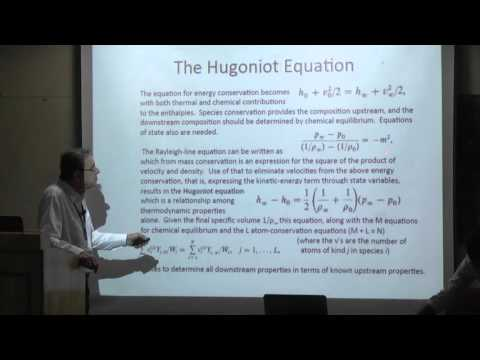 NCCRD@IITM-Rankine-Hugoniot Equations and Detonations by Prof Forman A. Williams