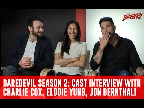 Daredevil Season 2: Cast Interview w/ Charlie Cox, Elodie Yung, Jon Bernthal [Netflix TV Series]