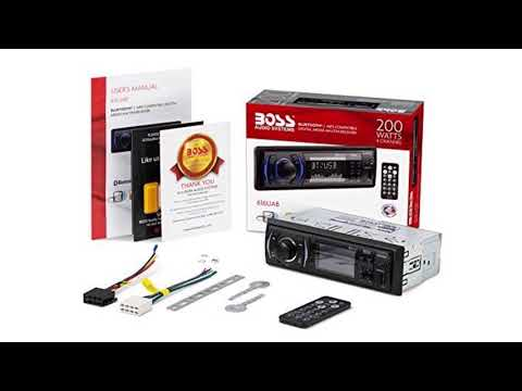 BOSS Audio 616UAB Multimedia Car Stereo – Single Din LCD, Bluetooth Audio and Calling, Built-in Micr