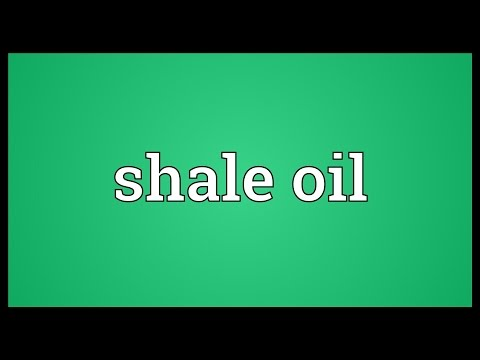 Shale oil Meaning