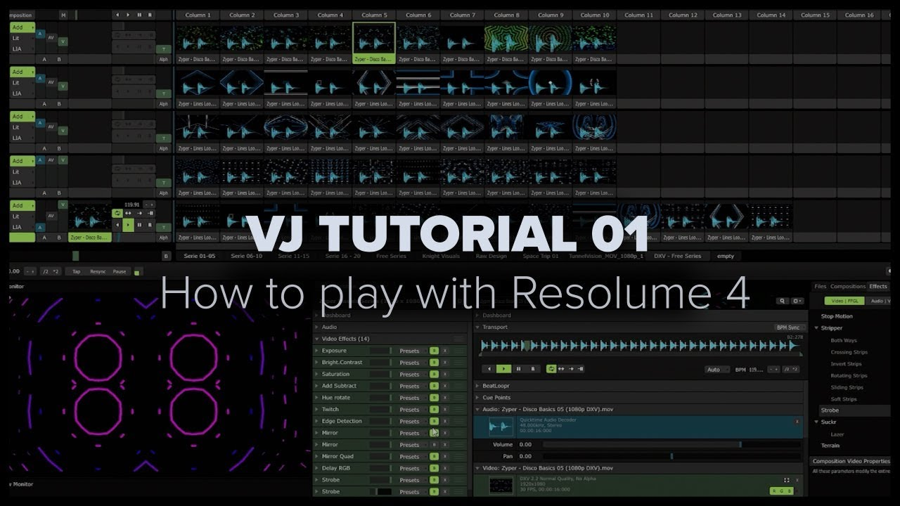 Zyper VJ Tutorial 01 - How I play with Resolume Arena