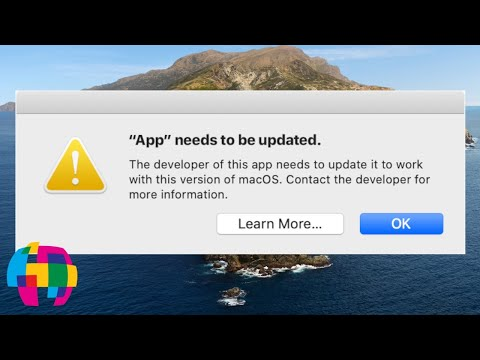 "App ""Needs To Be Updated"" Error Info - MacOS 10.15 Catalina"