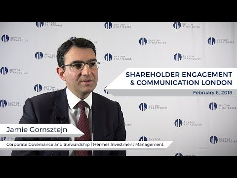 Interview with Jaime Gornsztejn, Director of Corporate Governance at Hermes | Skytop Strategies