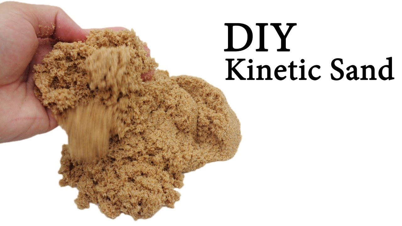 make your own kinetic sand with eye drops sand watercolor glue easy simple diy youtube. Black Bedroom Furniture Sets. Home Design Ideas