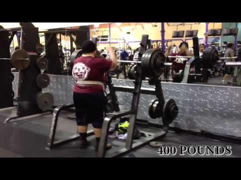 400 Pounds Over Head Press-( 19 Years Old )