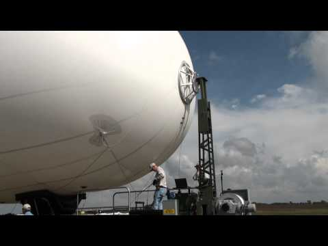 The 17K Aerostat sitting on it's mooring mast