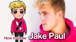 How to Draw Jake Paul | Famous Youtuber