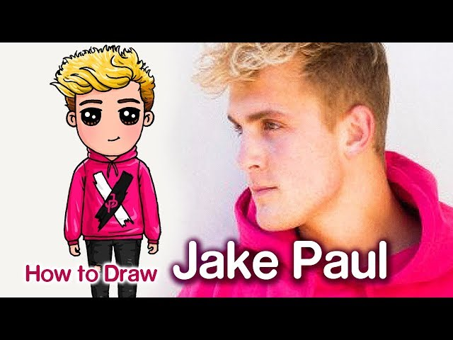 Draw so cute how to draw jake paul famous youtuber