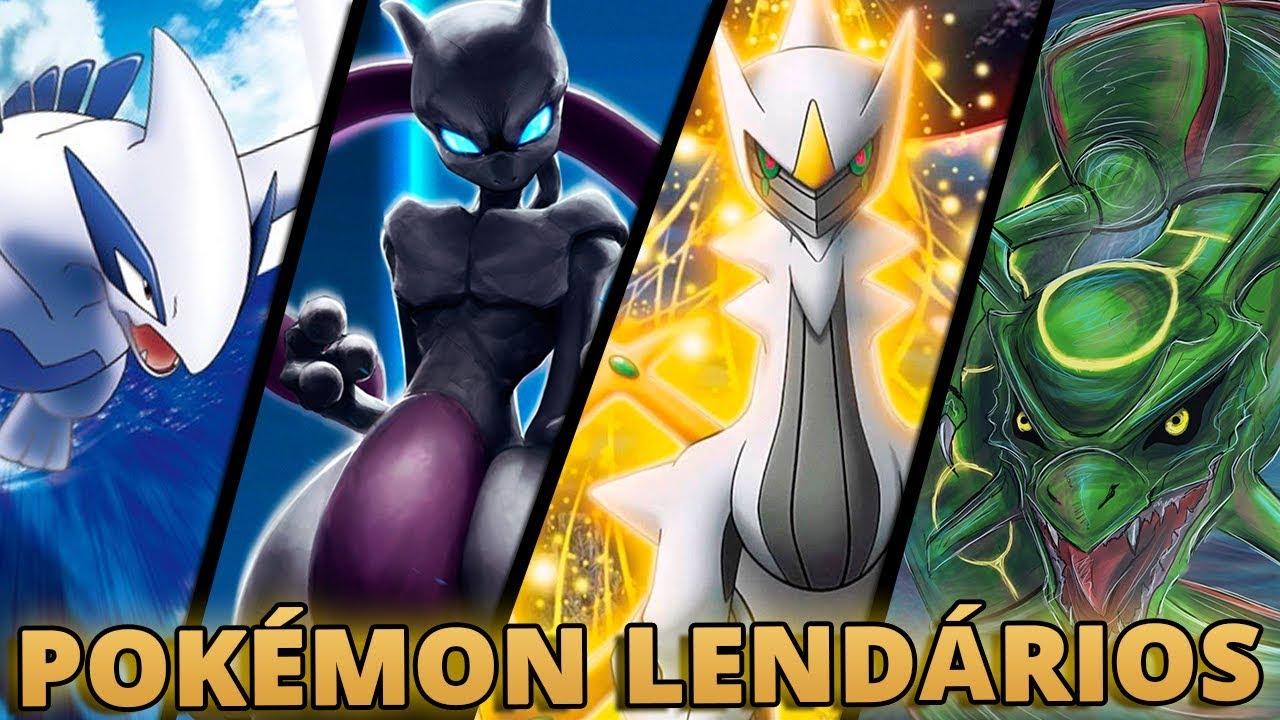 Os 10 Pokemon Lendarios Mais Poderosos Player Solo Youtube