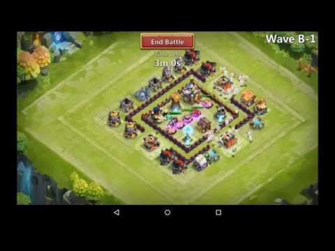 Castle Clash - Town Hall 9 Base Design To Beat Here Be Monsters Challenge I B & C