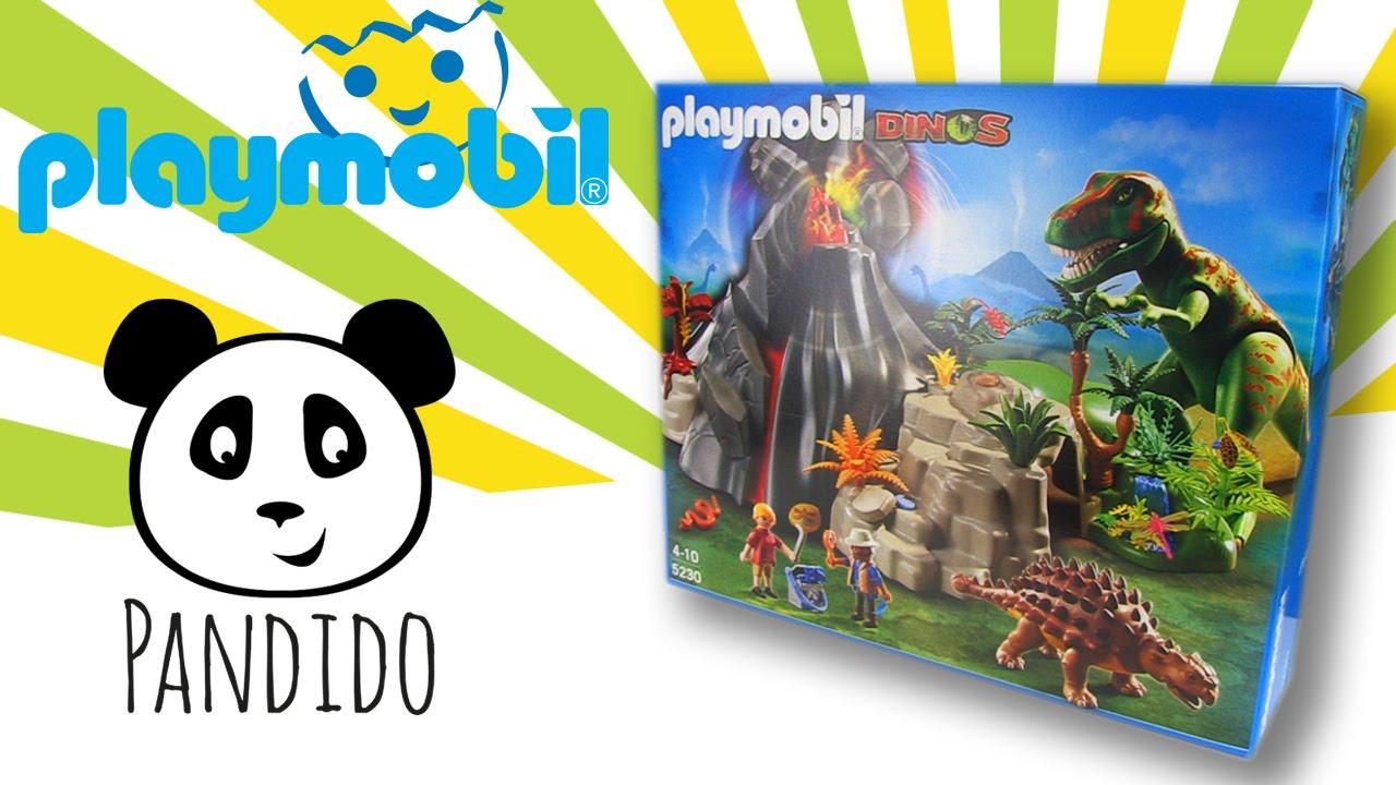 Playmobil dinosaurios volc n con tiranosaurius pandido for Playmobil dinosaurios