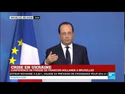 Sommet de Bruxelles, conf. de presse de F. Hollande. L'union a décidé d'agir de façon graduelle.