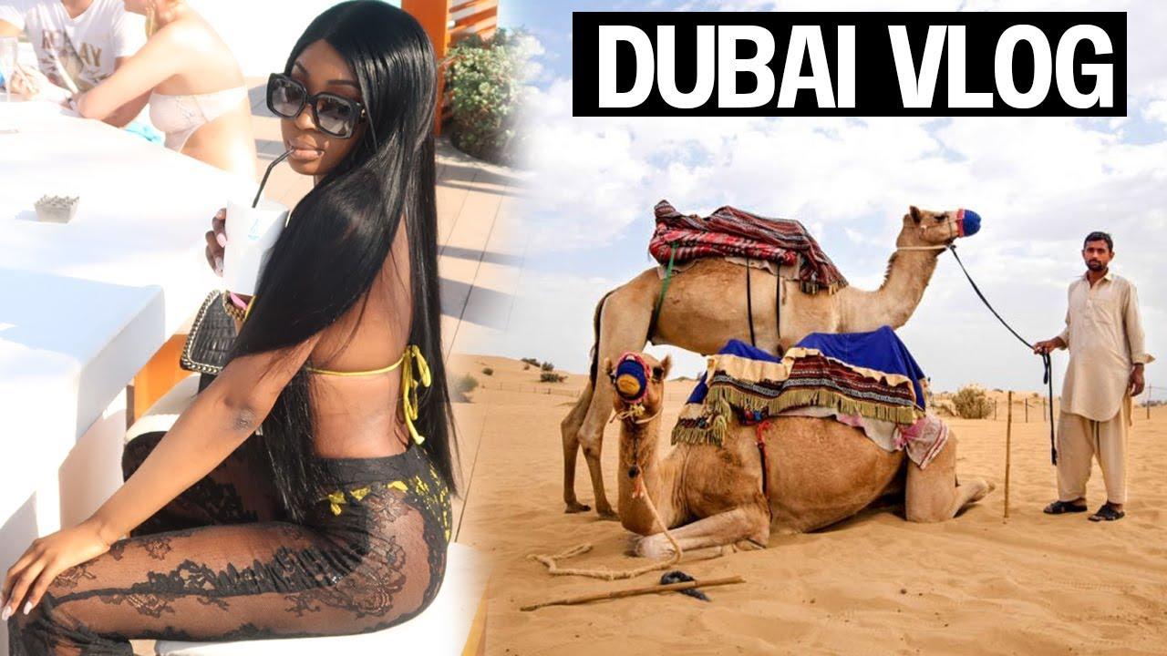 DUBAI VLOG | BLACK TRAVEL VLOG - NIKKI BEACH - GOLD SOUK | TEMILONDON