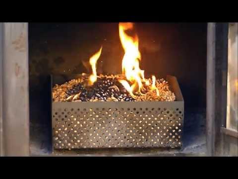 panier à pellet ( granulé de bois ) bruleur de pellets, granulés www.lamaisondupoeleabois.com