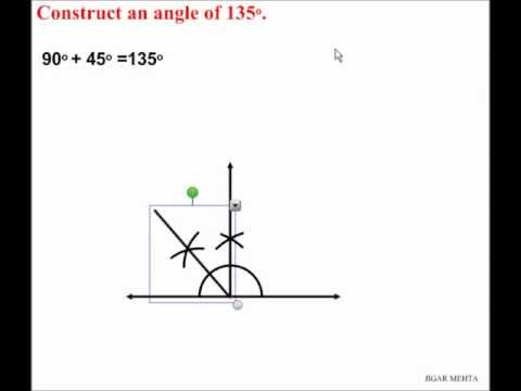 ANGLE CONSTRUCTIONS USING COMPASS - 135 DEGREES