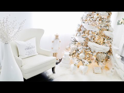 How To Decorate a Christmas Tree with fabric like a pro | Alternative Christmas Tree Ideas Romantic