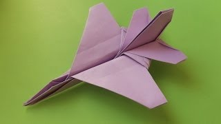 F16 Jet Fighter Paper Plane #origami