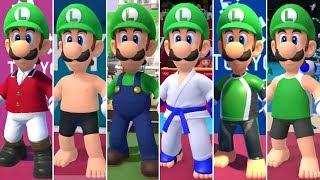 Mario & Sonic at the Olympic Games Tokyo 2020 - All Luigi Outfits