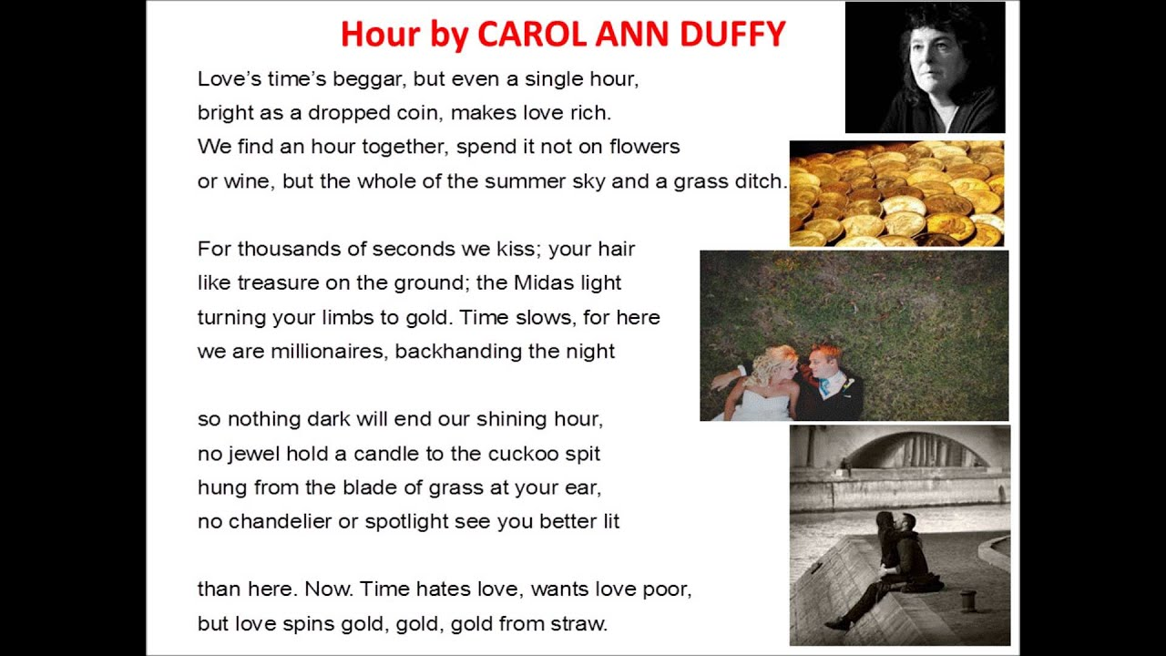 hour by carol ann duffy hour by carol ann duffy