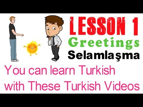 Learn Turkish Through Turkish Lesson 1 - Greetings | İngilizce Dersi 1 - Selamlaşma thumbnail