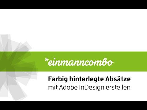 Farbig hinterlegte Absätze in Adobe InDesign