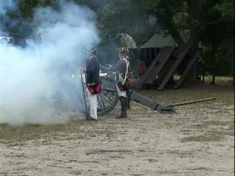 American Revolutionary War Re-enactors - 1776 -  Artillery Cannon Corunna Owosso Michigan Video #2