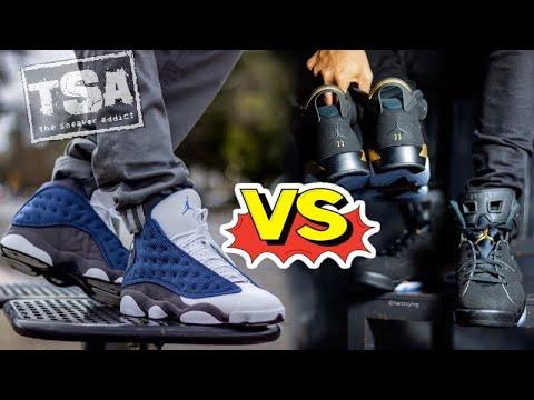Air Jordan DMP 6 VS Flint 13 Retro Sneaker Battle On Feet  Pickone & Wrestlemania