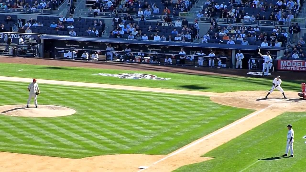 Baseball Game New York Yankees V Los Angeles Angels Youtube