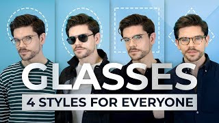 4 Glasses Styles For Every Face Shape | Men's Fashion