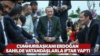 Cumhurbaşkanı Erdoğan, Zeytinburnu Sahilinde Vatandaşlarla Çay İçti