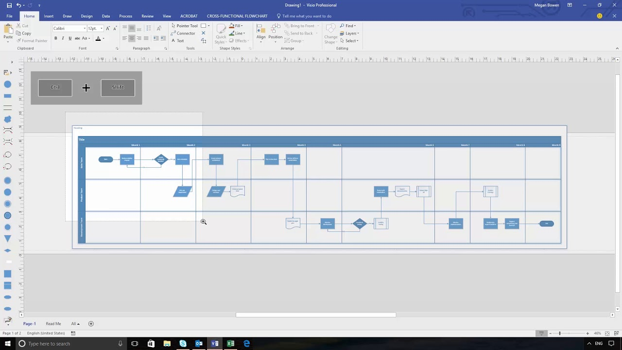 sample visio process flow diagram 2 speed motor starter wiring data visualizer: automatically create diagrams from excel - youtube