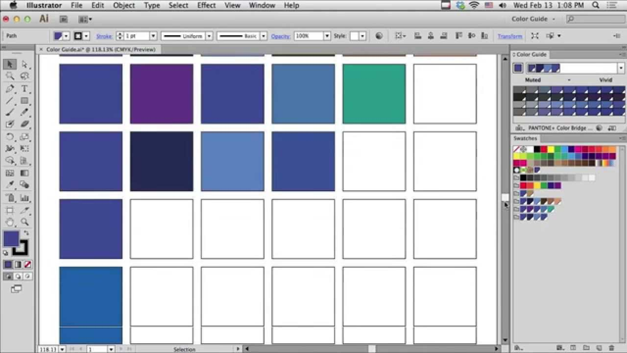 how to add color palette in illustrator