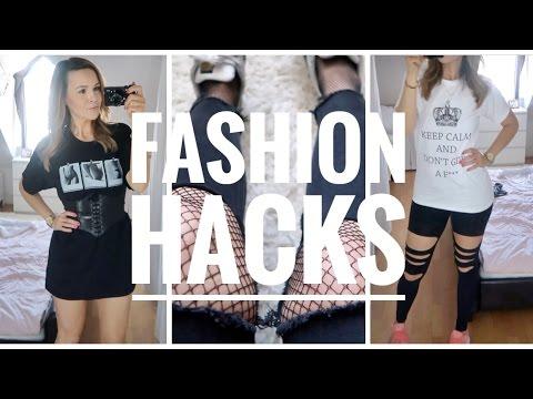 5 super easy fashion hacks diy klamotten mehr platz im schrank youtube. Black Bedroom Furniture Sets. Home Design Ideas