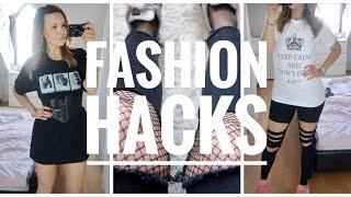 5 SUPER EASY FASHION HACKS (DIY KLAMOTTEN, MEHR PLATZ IM SCHRANK)