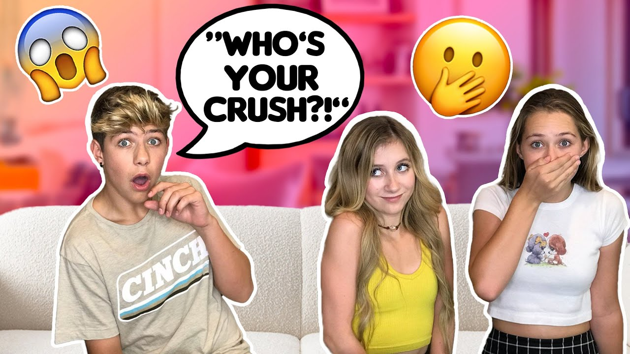 Asking Girls AWKWARD Questions To See Their REACTION *CRUSH EXPOSED*   Walker Bryant