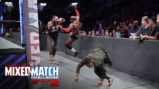 Strowman and Moon take their attack outside the ring on WWE MMC