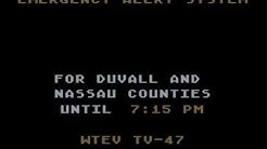 Double Severe T'storm Warning: Jacksonville, FL (4/21/12)