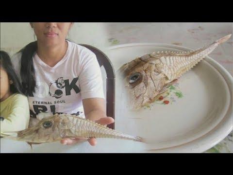 Nakakatakot na isda, nahuli ng isang Malaysian na lalaki sa South China Sea