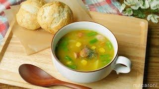 【365日のパンとスープ】ウインナーとポテトのカレースープ (instagramアカウント la_bonbonniere.toyohashi さん考案レシピ) ━━━━━━━━━━━...