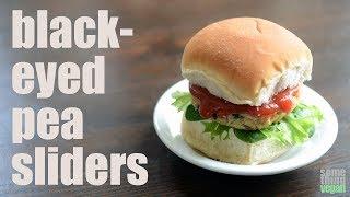 black-eyed pea sliders (vegan & gluten-free) Something Vegan