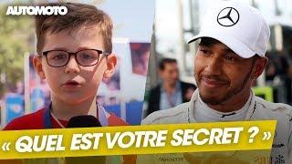 Formule 1 : Lewis Hamilton répond aux enfants français !