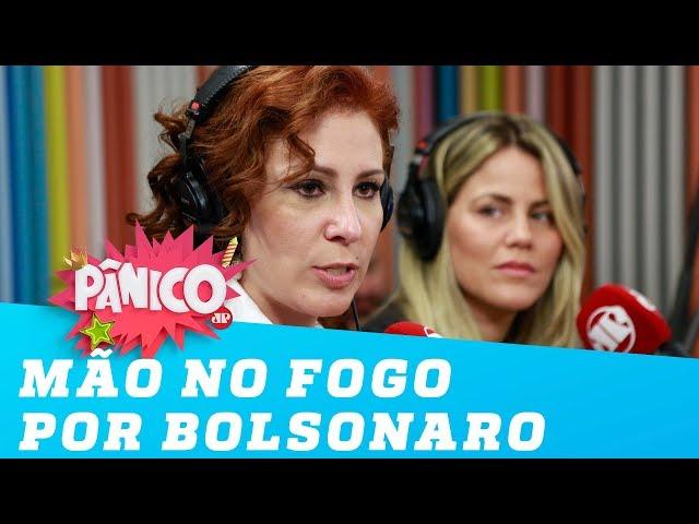 'Eu ponho minha mão no fogo pelo Bolsonaro', diz Carla Zambelli