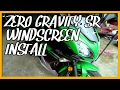 Zero Gravity SR Windscreen Install (2016 Kawasaki Ninja 650)