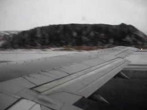 Alaska Airlines Taking Off At Adak, AK