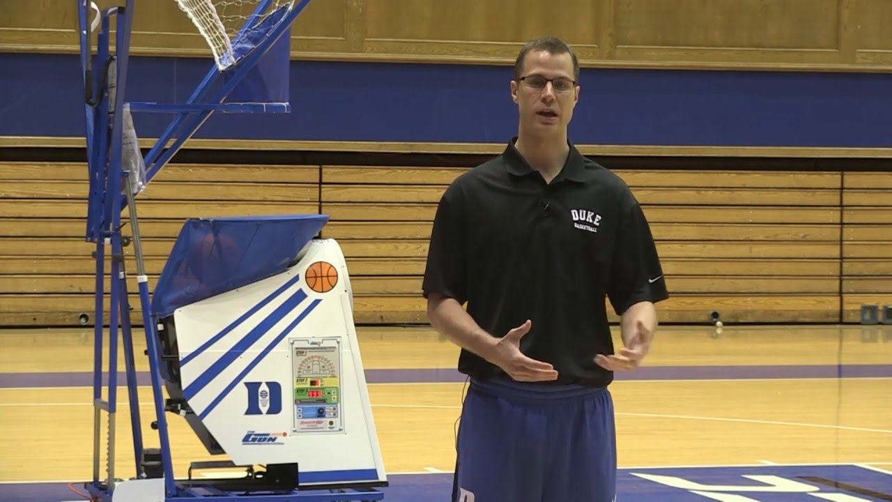 DUKE Coach Jon Scheyer shows an incredible shooting drill ...