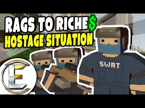 HOSTAGE SITUATION | Unturned Roleplay (Rags to Riches #48)