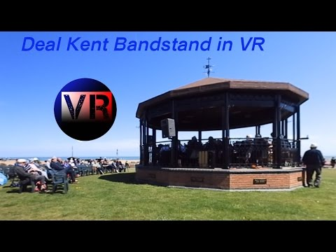 The Deal Memorial Bandstand on the 21st of May 2017 enjoying the Invicta Concert Band playing in VR.
