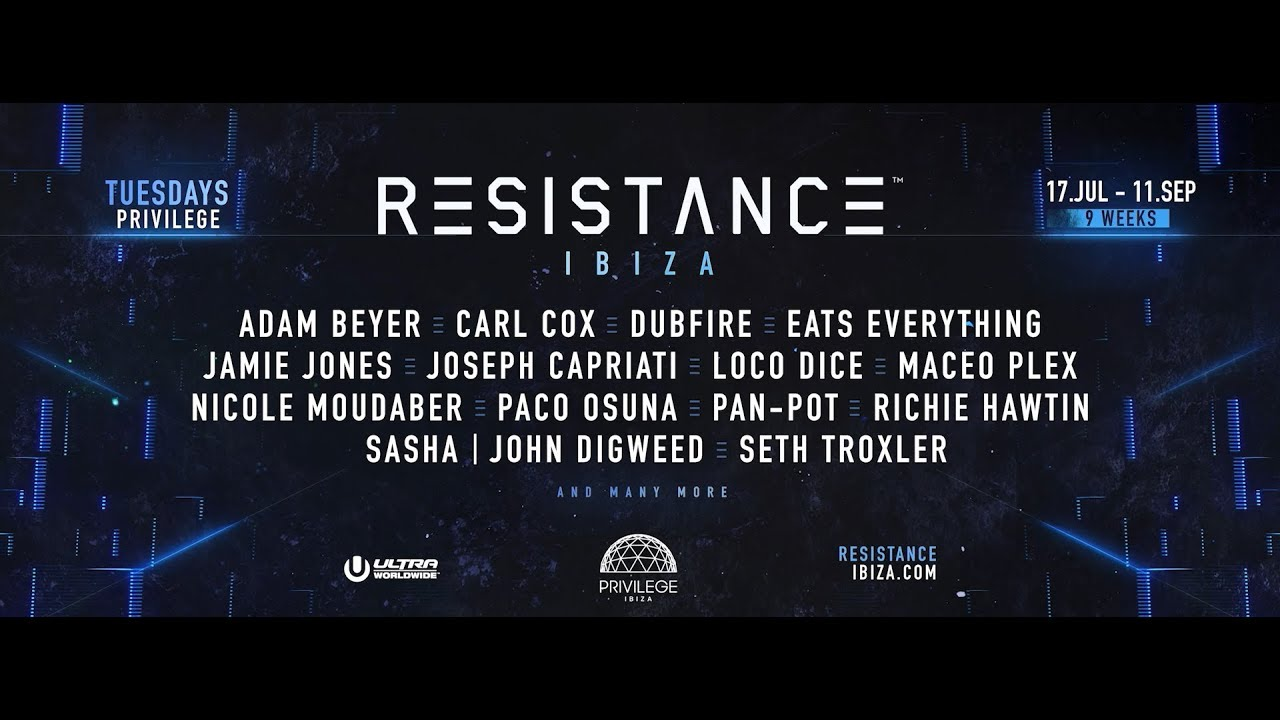 Image result for resistance ibiza 2018