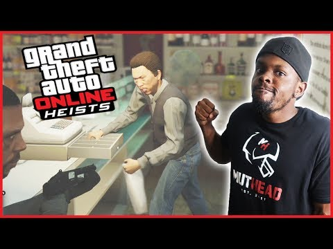 WE ROBBED A GAS STATION FOR THEIR CANDY BARS! - GTA Online Heist Gameplay