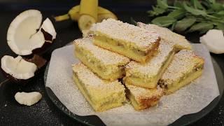 """Пирожное """"Банан-кокос"""" НЕЖНЕЕ НЕЖНОГО/быстро просто вкусно"""